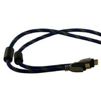 High Quality Braided HDMI v1.4 10m Cable Ferrites & Gold Plated Ends